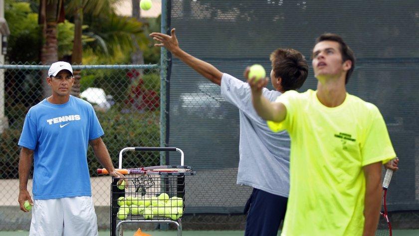 Elite tennis training in San Diego, California